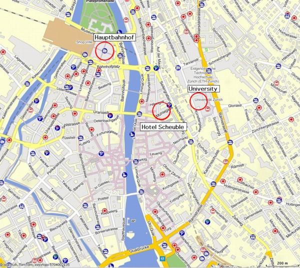 UZH - Seminar für Griechische und Lateinische Philologie - Venue Zurich Map on